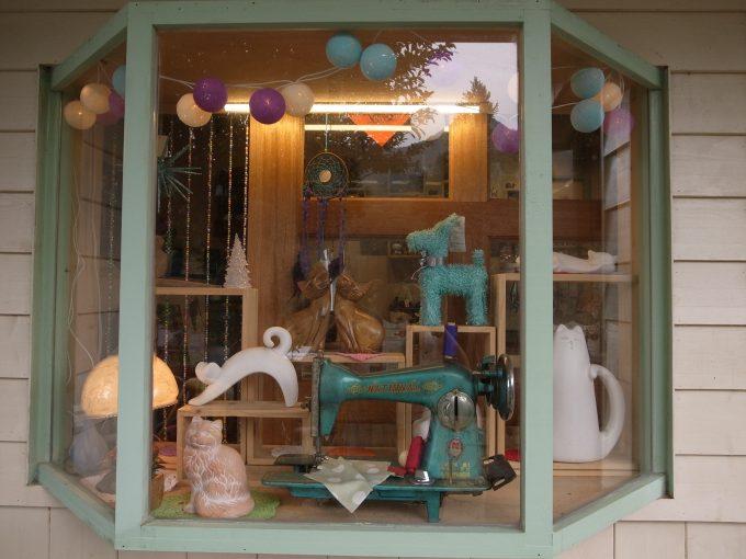 台湾の猫村のホウトンの猫グッズのお店の写真