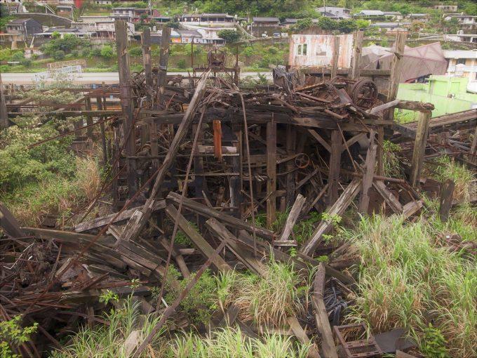 台湾の猫村のホウトンの炭鉱跡の写真