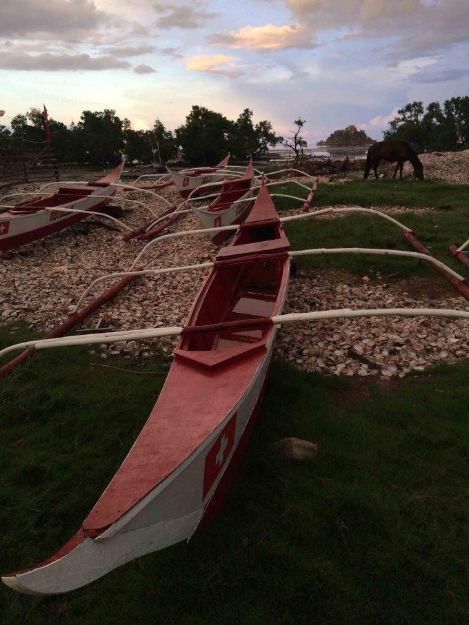 ギガンテス島のボート置き場