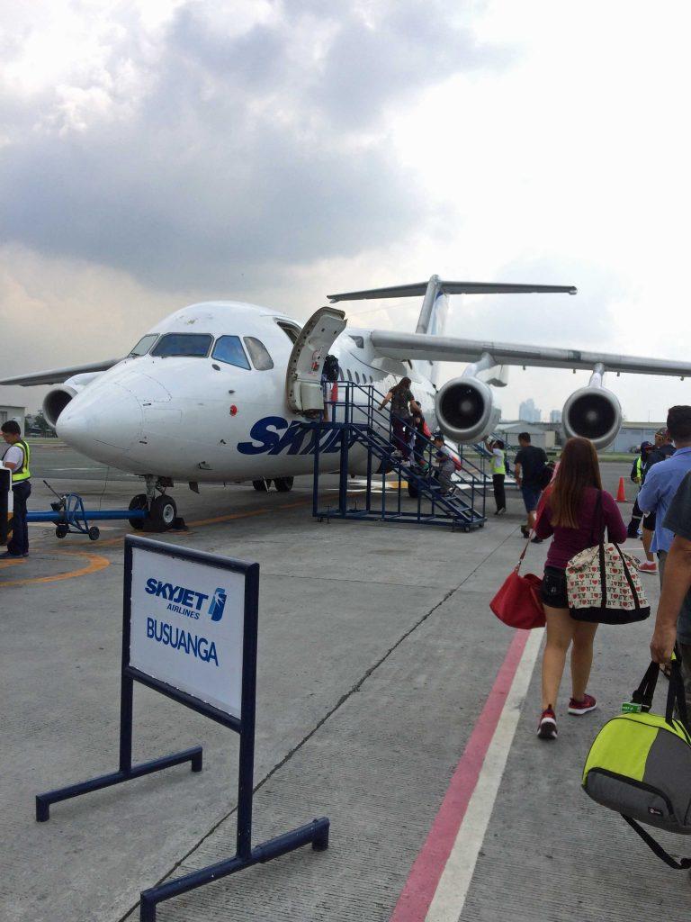 マニラ国際空港ターミナル4 スカイジェット搭乗