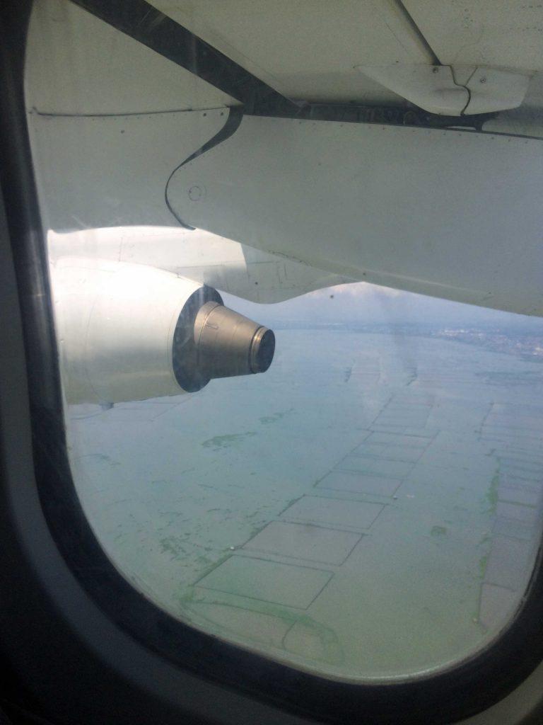 マニラ湾上空