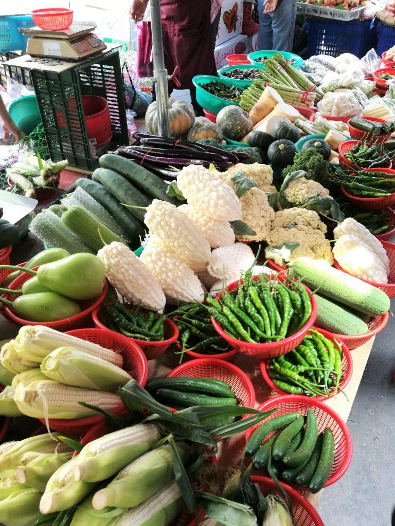 雙連朝市の野菜の写真