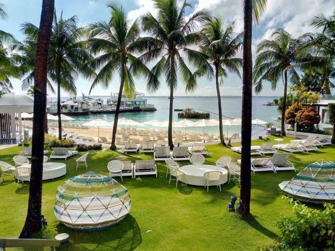 モーベンピックホテルマクタンアイランドセブのプライベートビーチの写真