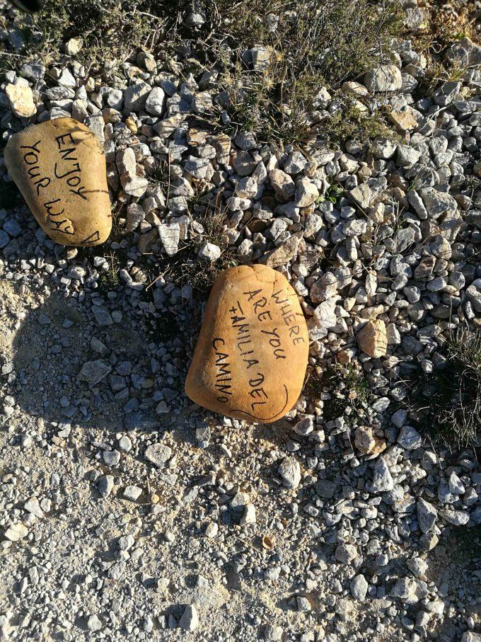 カミーノデサンチアゴ巡礼途上のメッセージの写真