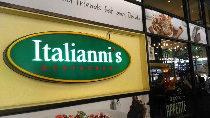 イタリアニスの看板の写真