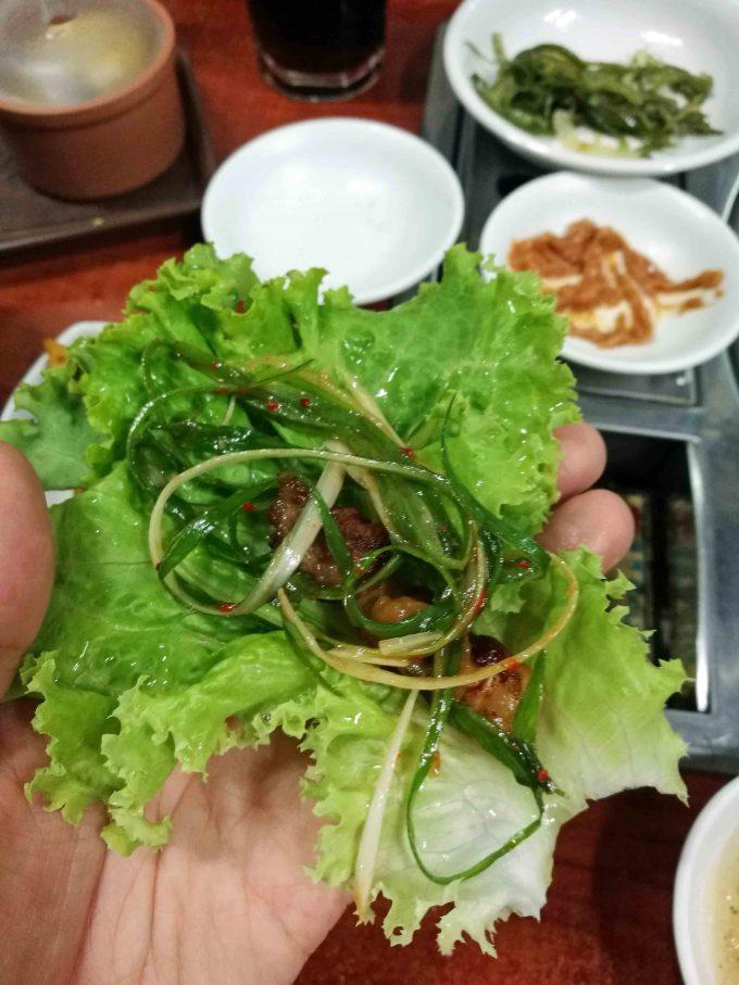 サムギョプサル実食の写真