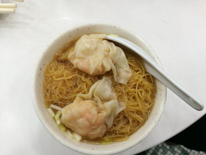 麥文記麵家のエビワンタン麺の写真