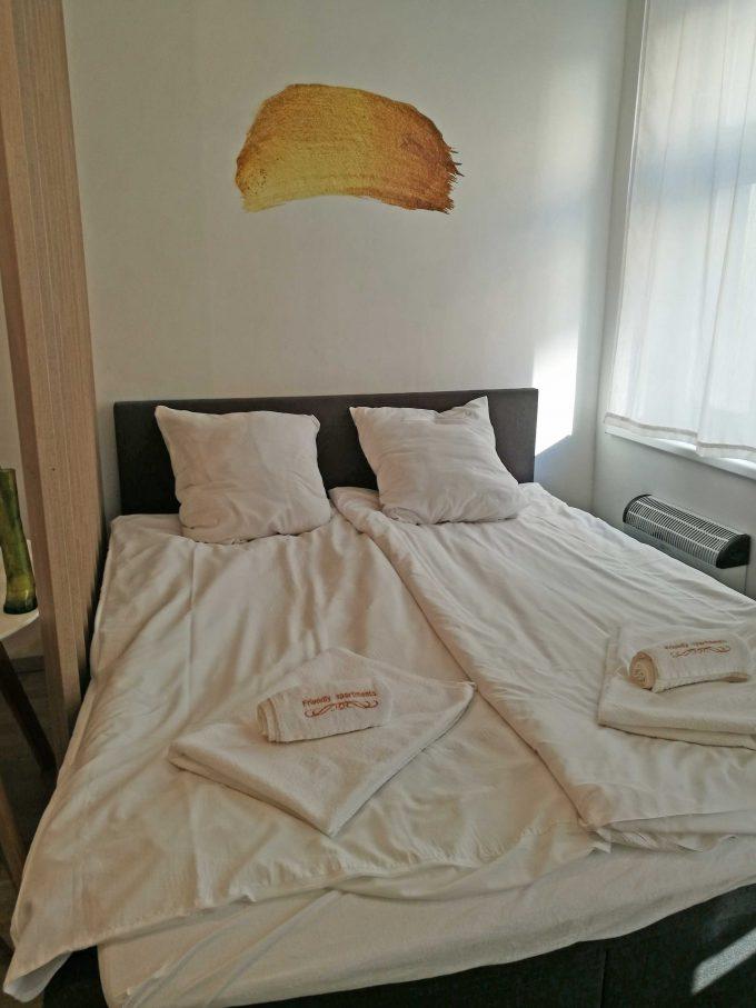 プラハの新市街のエアービーアンドビーの部屋の写真