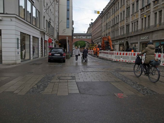 ミュンヘン市内の街並みの写真