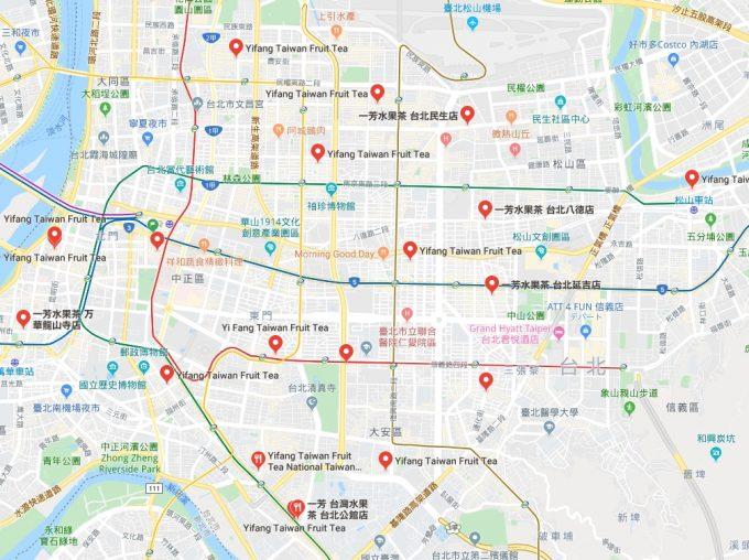 一芳の地図の写真