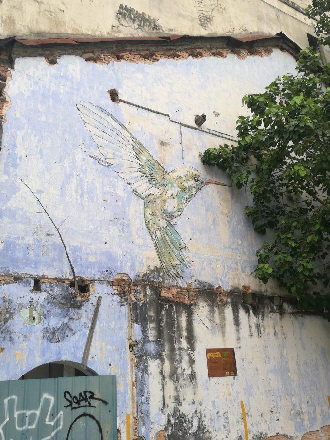 イポーのハチドリの壁画の写真