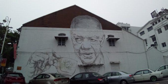イポーのオールドタウンホワイトコーヒーの壁画の写真