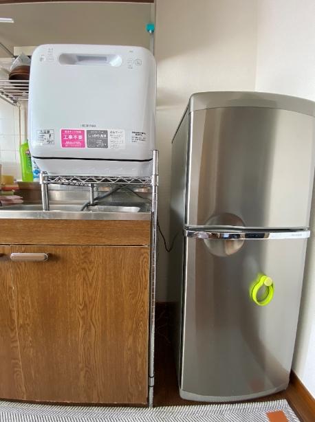 食洗機の設置状況の写真